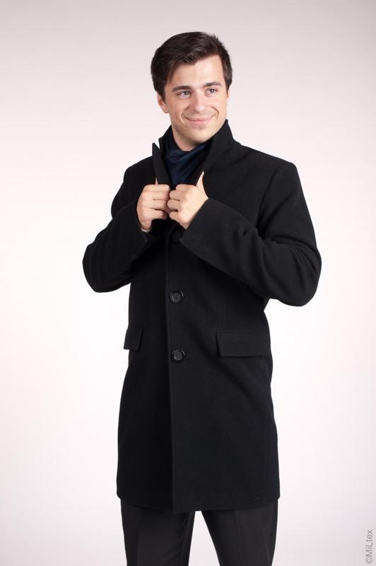 Зимнее мужское пальто, ворот стойка