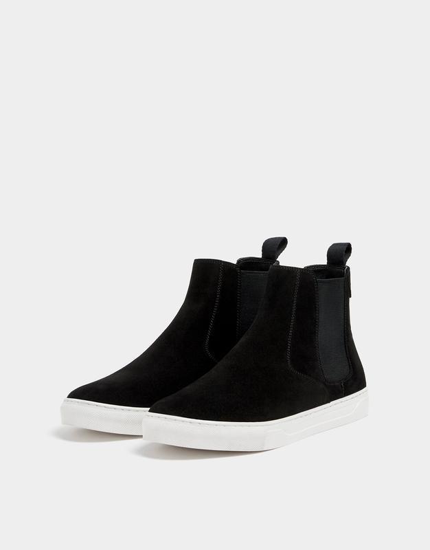 Натуральная кожа замшевые ботинки pull&bear