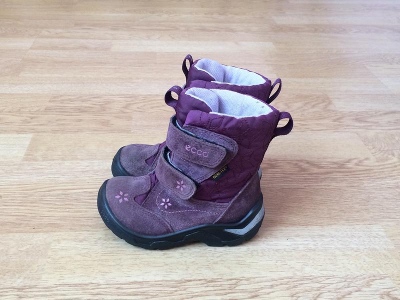 Зимние термо ботинки ecco с мембраной gore-tex 23 размера