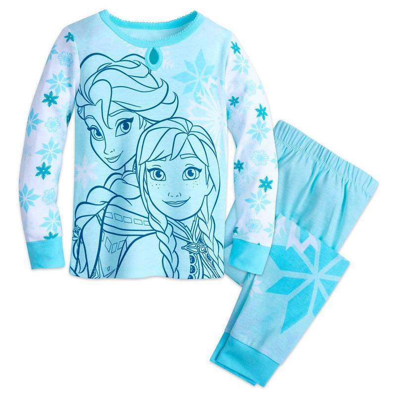 Детская пижама анна и эльза 6,7,10 лет дисней америка