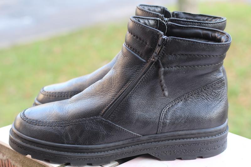 Зимние кожаные ботинки 44-45