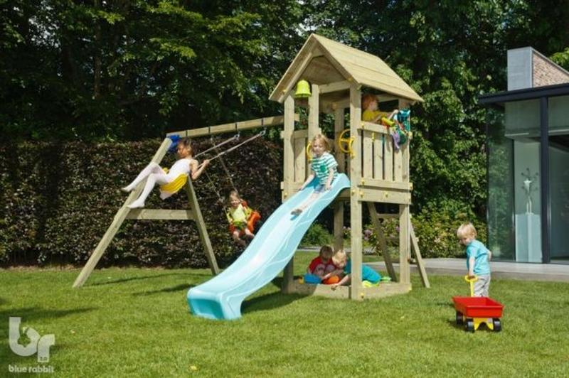 Детская игровая площадка KIOSK + SWING (Blue Rabbit) - Фото 2