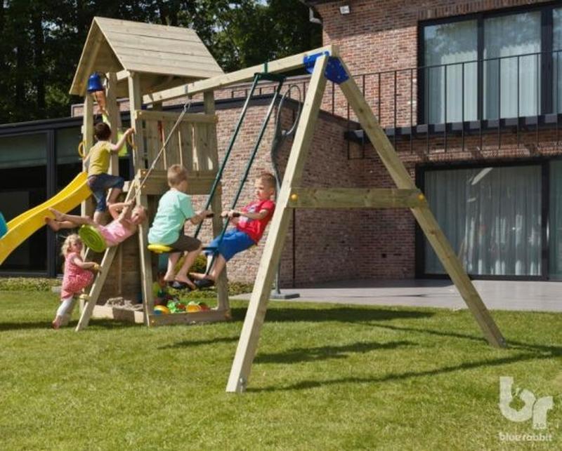 Детская игровая площадка KIOSK + SWING (Blue Rabbit) - Фото 3