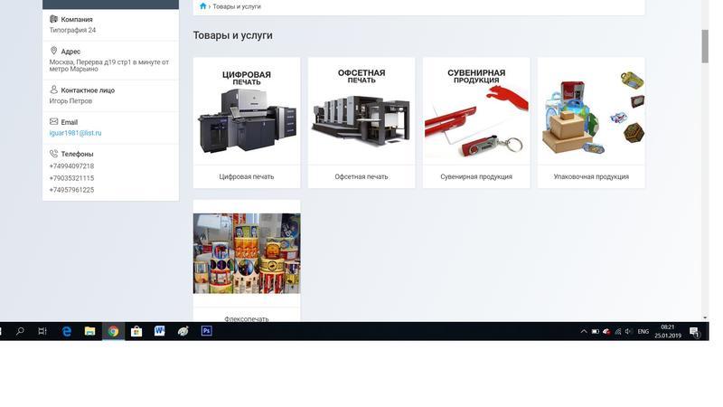 Наполнение сайтов и торговых площадок