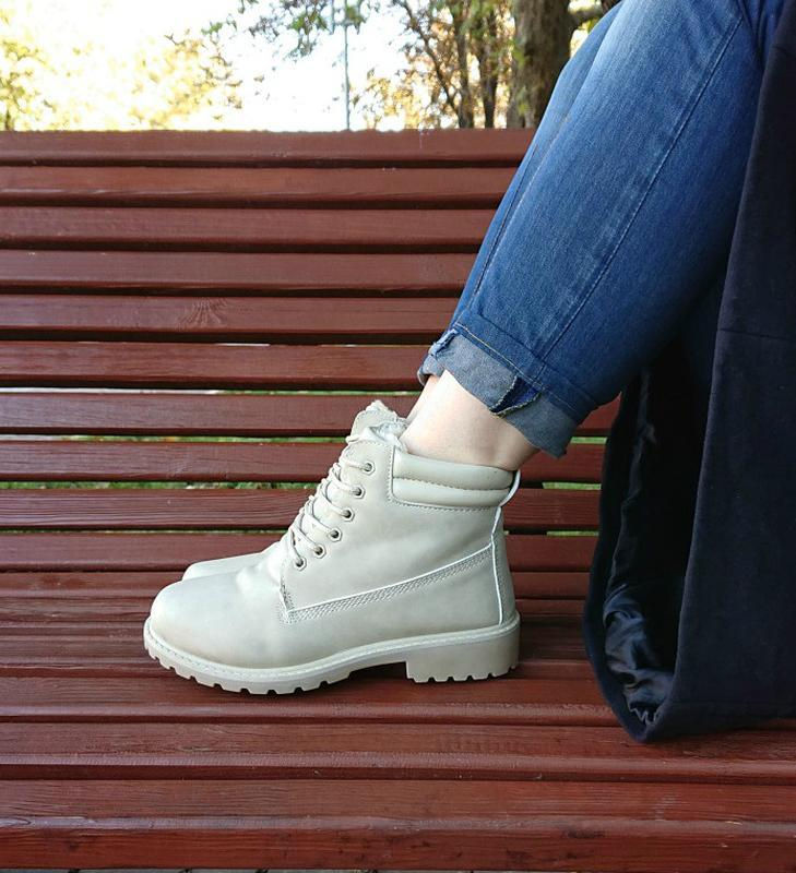 Ботинки женские timer беж