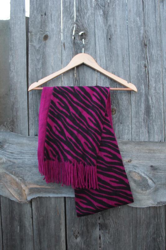 Женский шарф шарфик зебра