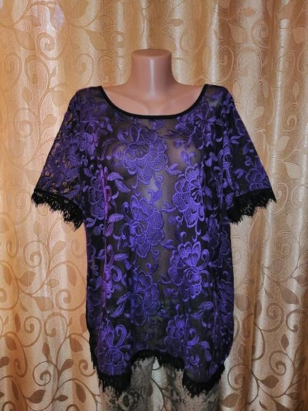 🌺🎀🌺красивая женская кружевная блузка, футболка, кофта 18\46 р....