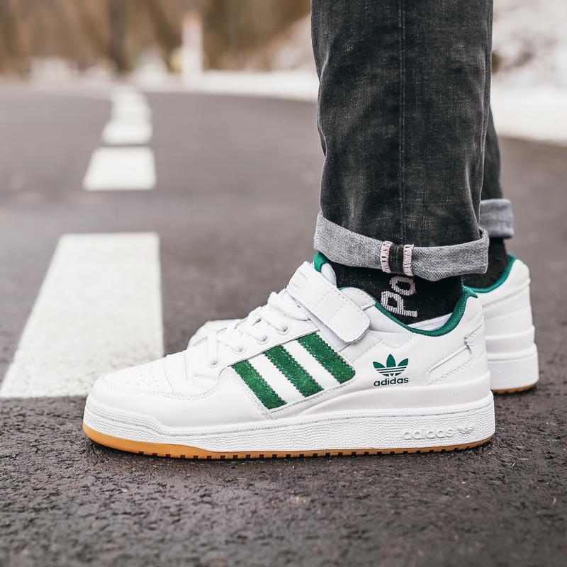 Adidas forum white\green