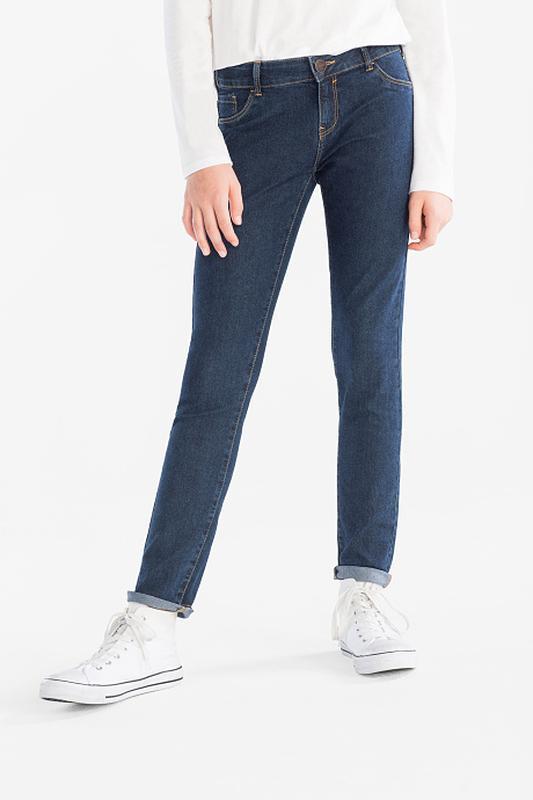 Немецкие синие джинсы-скинни