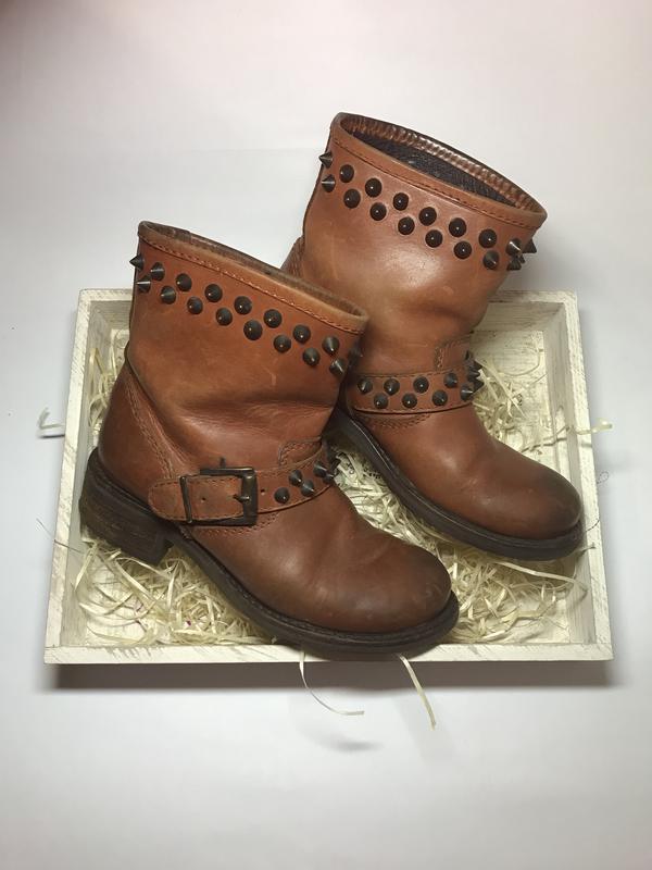 Крутые ботинки,сапоги с шипами из толстой кожи 100%,массивная ...