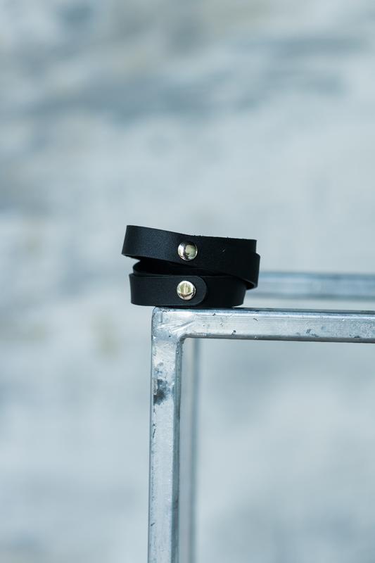 Кожаный браслет, ручная работа, шкіряний браслет, hand made - Фото 2