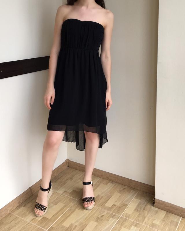 Асимметричное шифоновое платье от vila