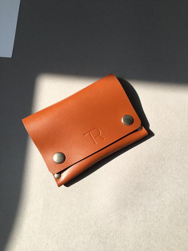 Міні гаманець з натуральної шкіри, мини-кошелек, hand made.м