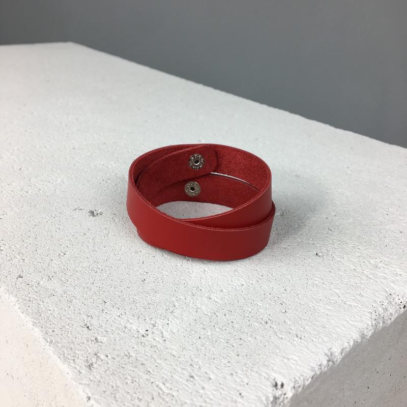 Кожаный браслет, ручная работа, шкіряний браслет, hand made - Фото 4