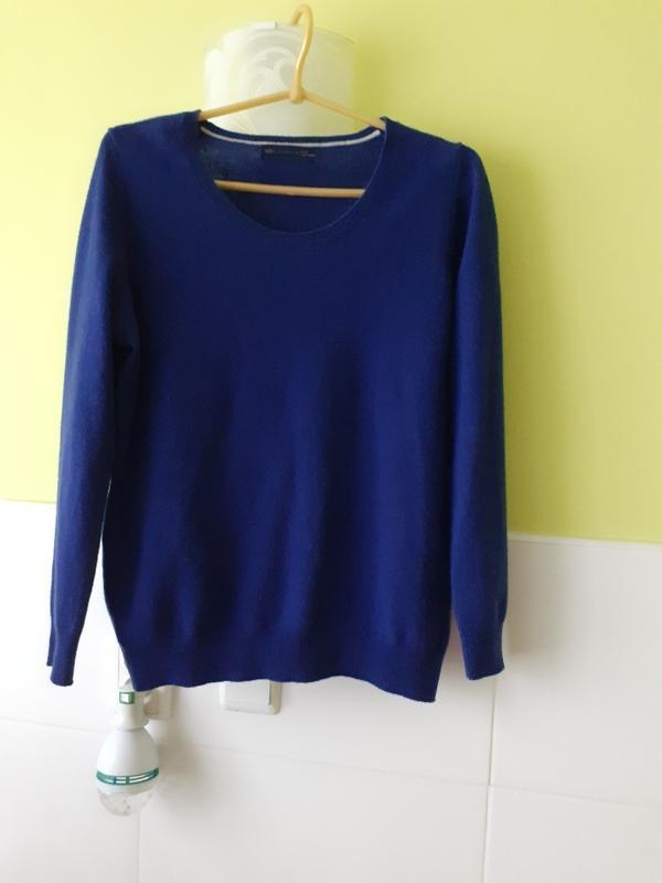 Кашемировый свитер кофта джемпер сапфир m&s