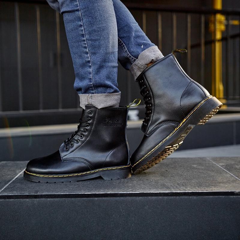😬dr.martens 1460 black😬зимние мужские кожаные чёрные ботинки м... - Фото 3