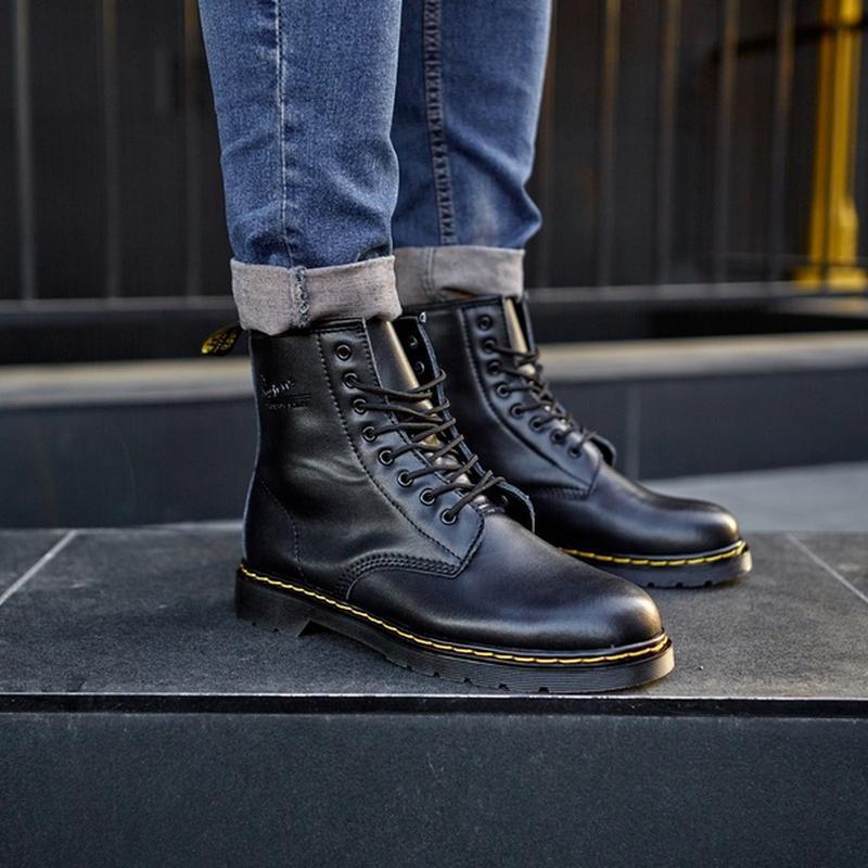 😬dr.martens 1460 black😬зимние мужские кожаные чёрные ботинки м... - Фото 4