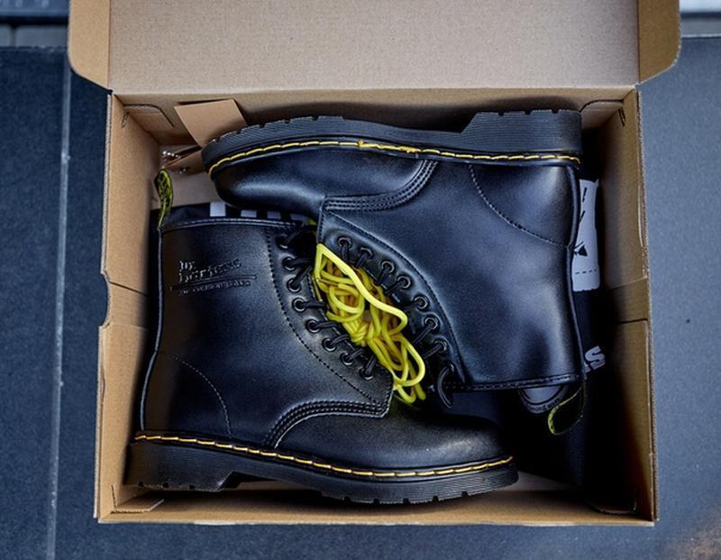 😬dr.martens 1460 black😬зимние мужские кожаные чёрные ботинки м... - Фото 5
