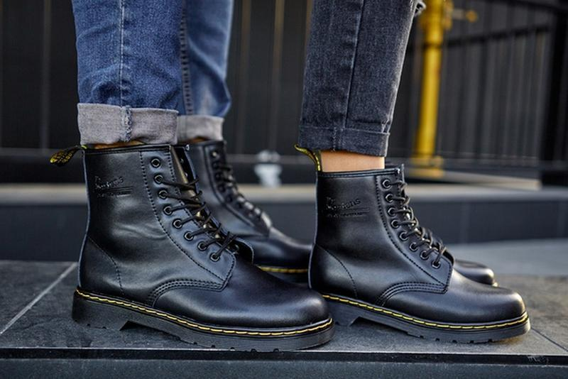 😬dr.martens 1460 black😬зимние мужские кожаные чёрные ботинки м... - Фото 6