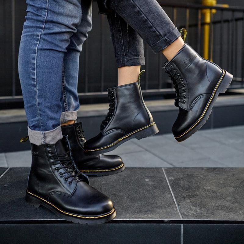 😬dr.martens 1460 black😬зимние мужские кожаные чёрные ботинки м... - Фото 7