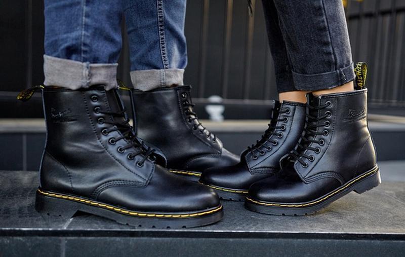😬dr.martens 1460 black😬зимние мужские кожаные чёрные ботинки м... - Фото 8