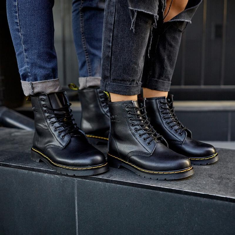 😬dr.martens 1460 black😬зимние мужские кожаные чёрные ботинки м... - Фото 9