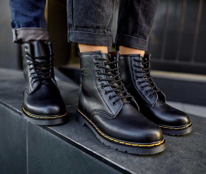 😬dr.martens 1460 black😬зимние мужские кожаные чёрные ботинки м... - Фото 10