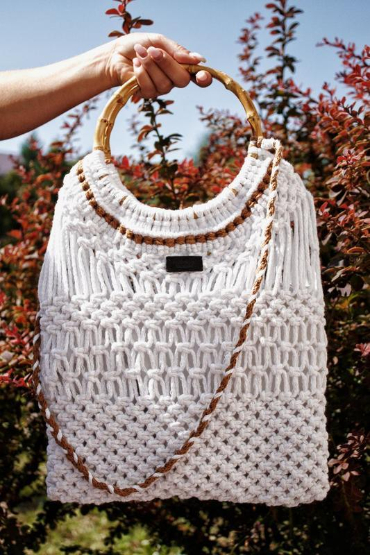 Сумка,еко сумка,макраме сумка,белая сумка
