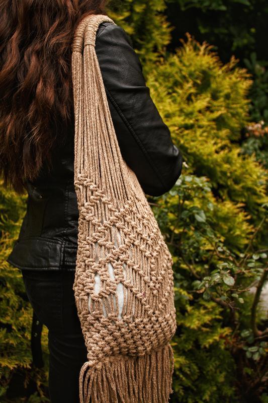 Сумка,макраме сумка,сумка ручної роботи,сумка шопер,еко сумка - Фото 3