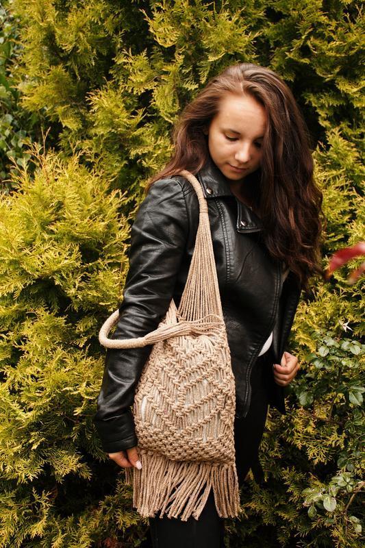 Сумка,макраме сумка,сумка ручної роботи,сумка шопер,еко сумка - Фото 4