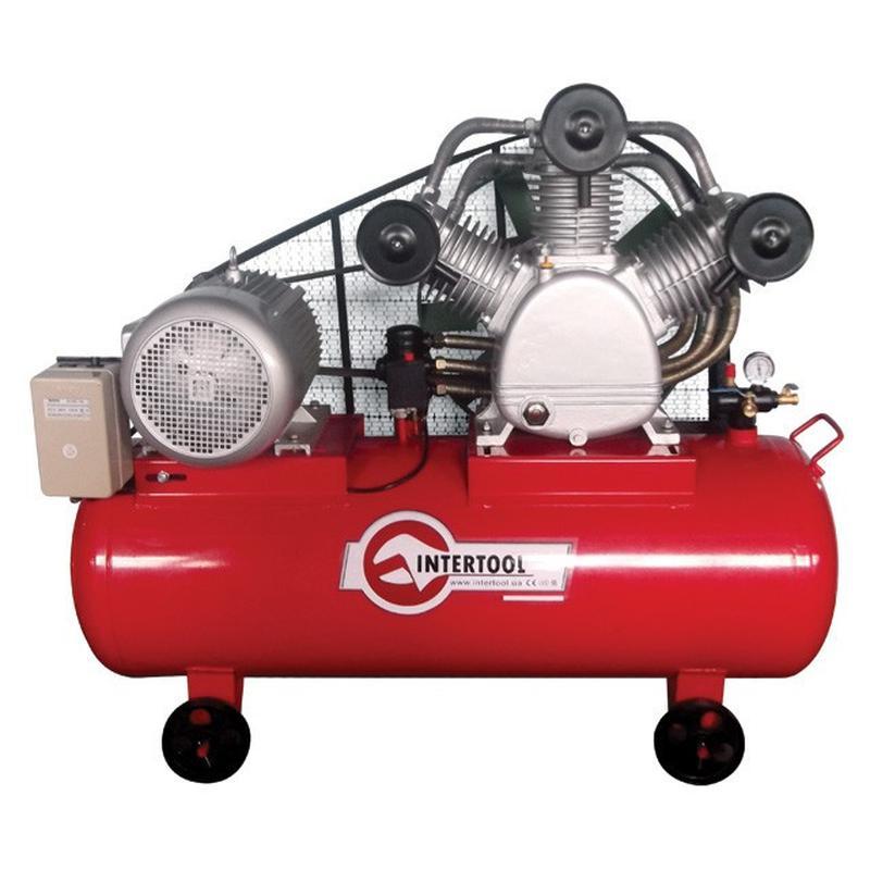 Компрессор 300л, 20HP, 15кВт, 380В, 8атм, 2000л/мин. 3 цилиндра
