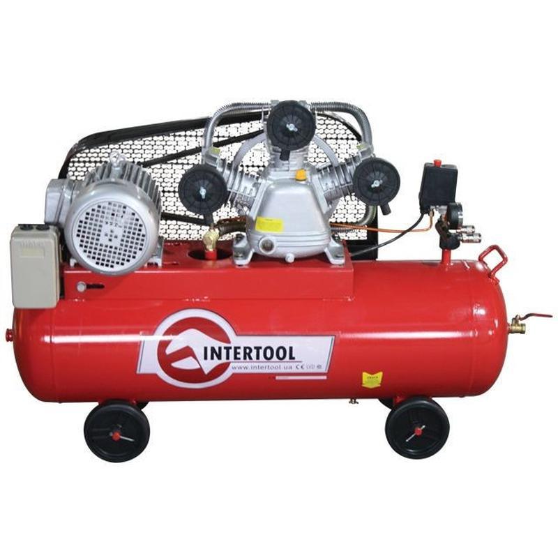 Компрессор 100л, 5HP, 4кВт, 380В, 8атм, 600л/мин. 3 цилиндра
