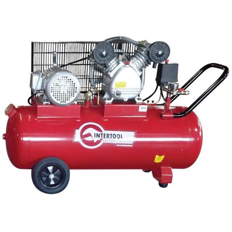 Компрессор 100л, 4HP, 3кВт, 380В, 8атм, 500л/мин, 2 цилиндра
