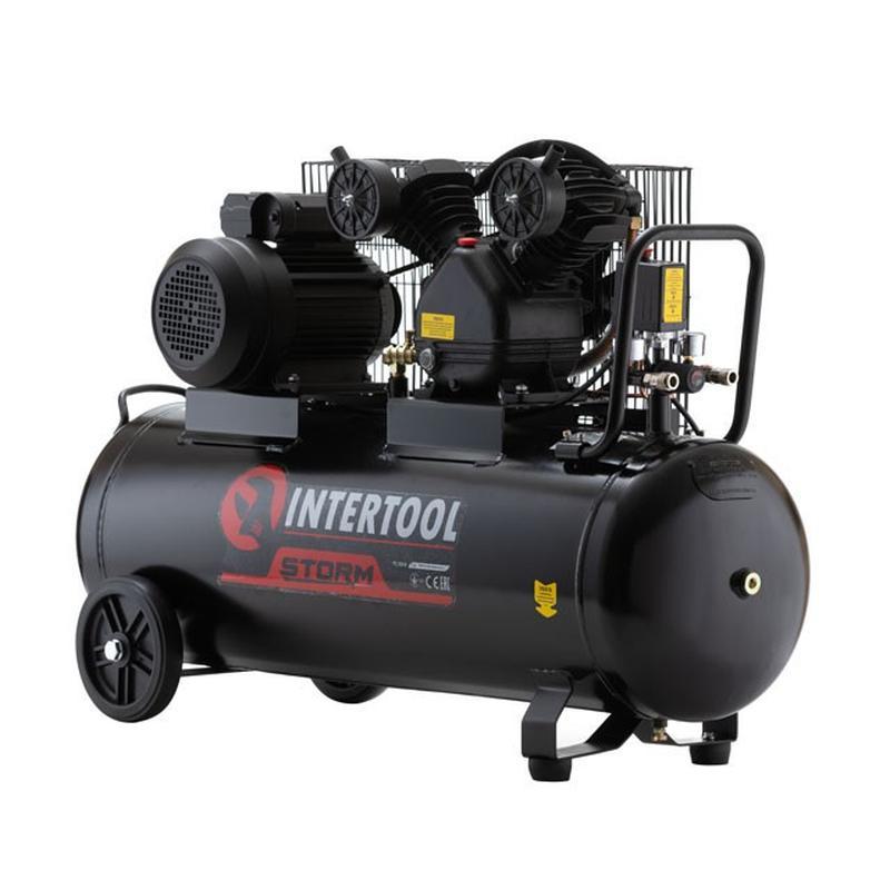 Компрессор 50 л, 3 кВт, 220 В, 10 атм, 500 л/мин, 2 цилиндра
