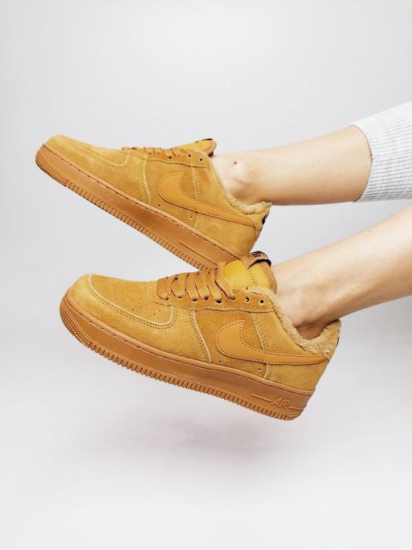 Nike air force fur! шикарные женские зимние кроссовки 😍 (на меху)