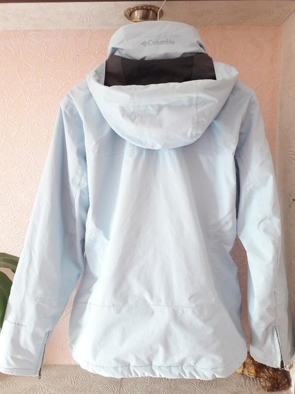 Женская голубая спортивная лыжная куртка columbia omni-tech де... - Фото 6