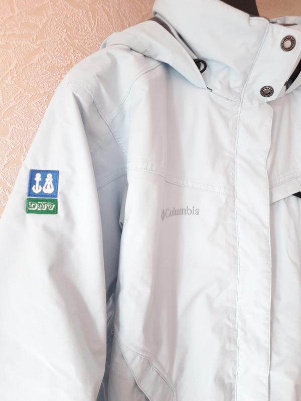 Женская голубая спортивная лыжная куртка columbia omni-tech де... - Фото 7