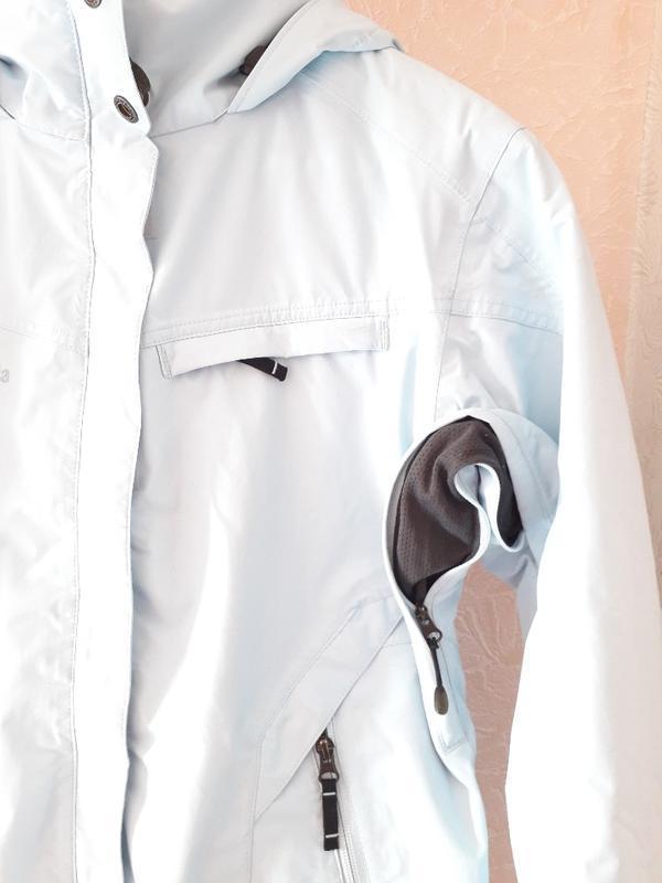 Женская голубая спортивная лыжная куртка columbia omni-tech де... - Фото 8