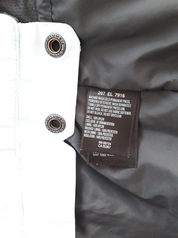 Женская голубая спортивная лыжная куртка columbia omni-tech де... - Фото 9