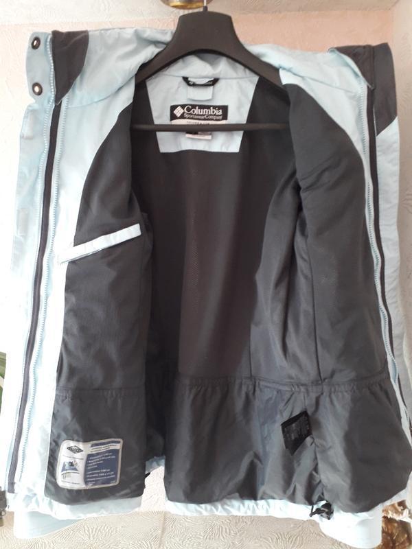 Женская голубая спортивная лыжная куртка columbia omni-tech де... - Фото 10