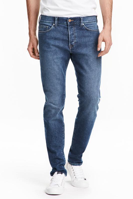 Синие джинсы h&m, skinny fit  (  low waist )