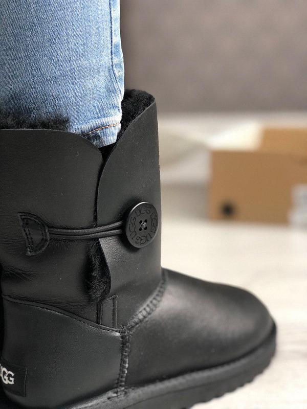 Ugg bailey bow 2 black! женские замшевые зимние угги/ сапоги/ ...