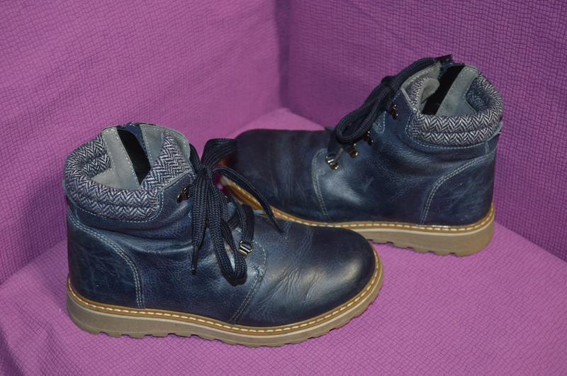 Комфортные кожаные деми ботинки john  lewis 33 р.