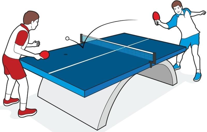 Настольный теннис правила в картинках