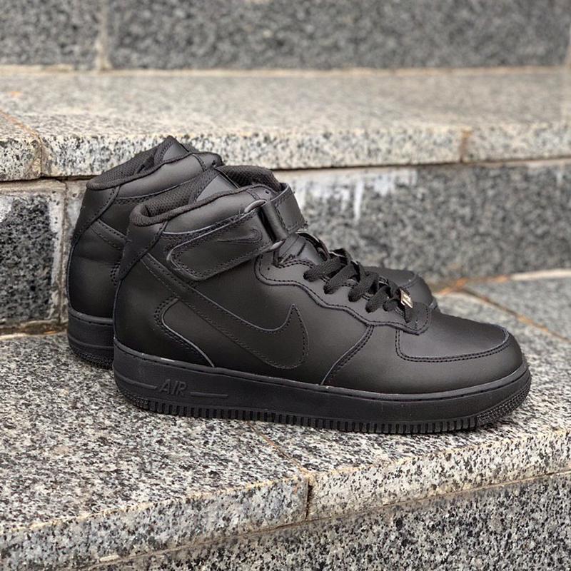 Nike air force winter all black fur мужские зимние кроссовки с...