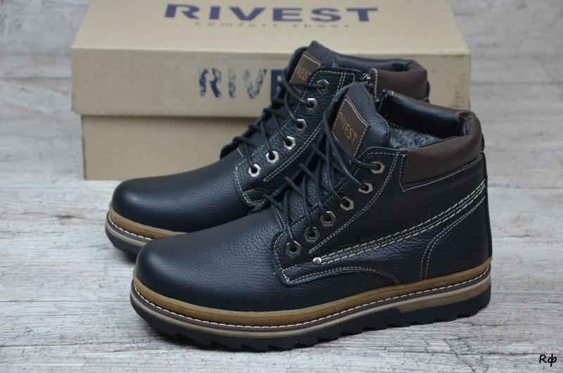 Мужские кожаные ботинки Rivest