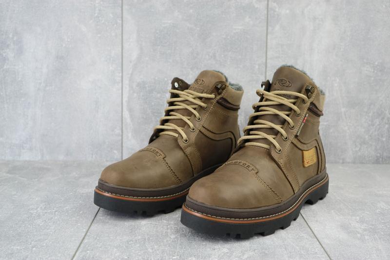 Мужские зимние ботинки {натуральная кожа} - Фото 4