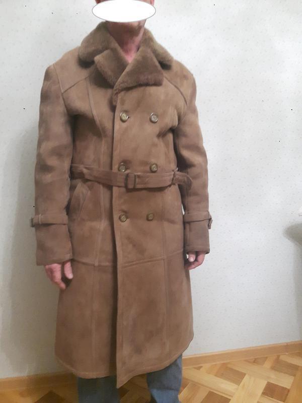 Дубленка-пальто натуральная мужская размер 46 турция (фабрика)...