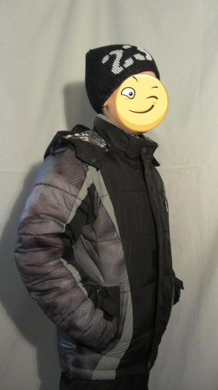 Курточка зимняя на мальчика 7-10 лет - Фото 4