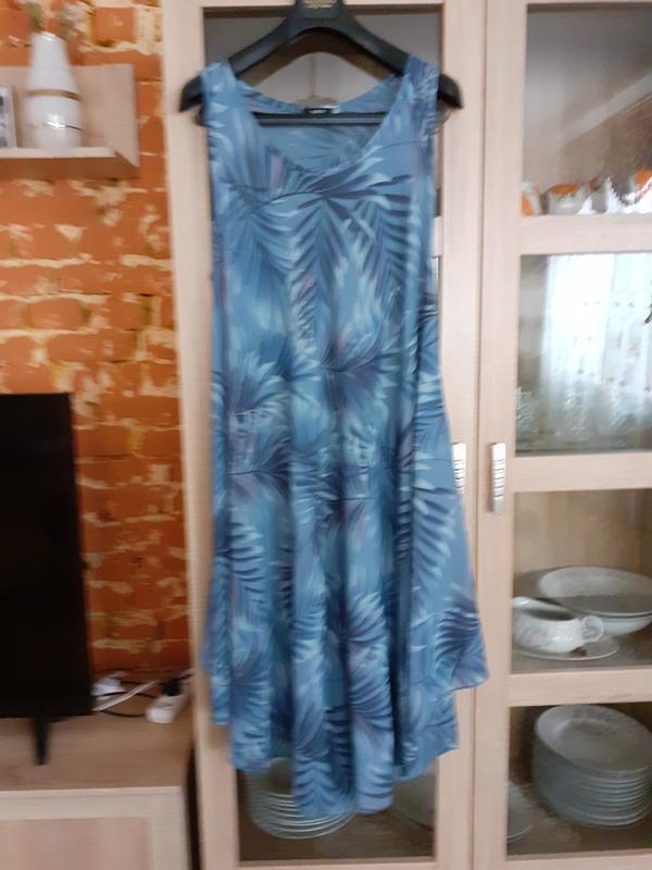 Асимметричное натуральное платье большого размера